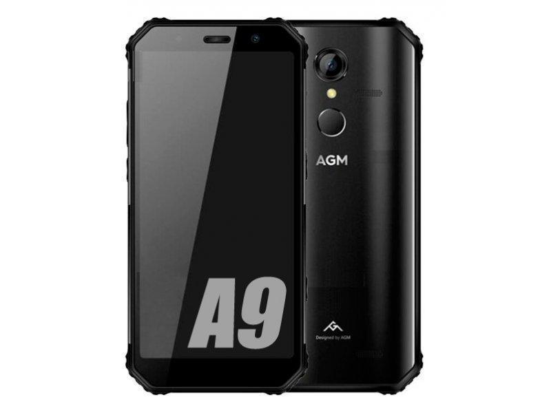 Защищенный смартфон  AGM A9 4/64 gb Black Qualcomm Snapdragon 450 5400 мАч