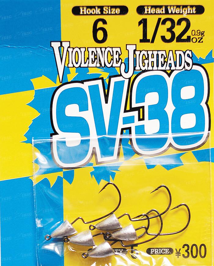 Крючок Decoy Violence Jighead SV-38 3 3,5г, 5шт