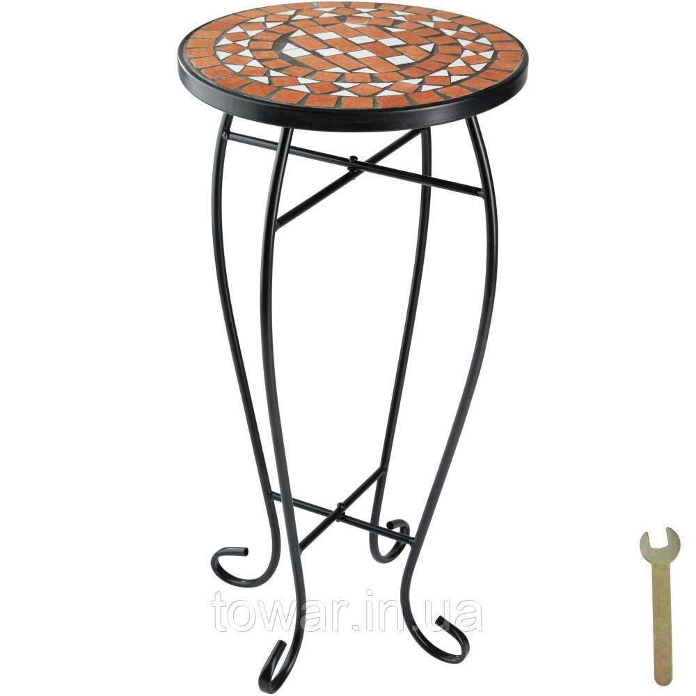 Балконный стол, клумба, терракотовая мозаика
