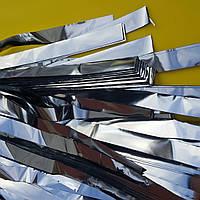 Серебряные ленты для бумажного и серебряного шоу, серпантин шоу, фото 1