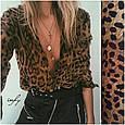 Шифоновая блуза с леопардовым принтом, фото 2