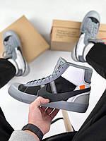 Кроссовки Nike Blazer Mid Off White Black Grey, фото 1