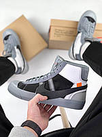 Кроссовки Nike Blazer Mid Off White Black Grey