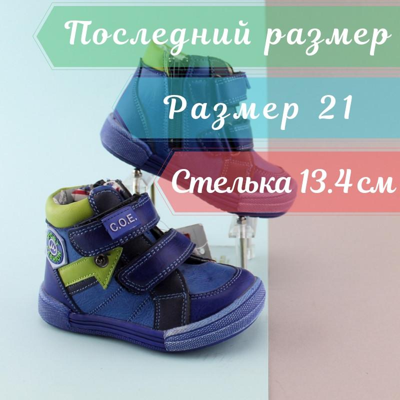 a70e0a8de Синие ботинки на мальчика, детская демисезонная обувь, высокие ботинки,  акция тм SUN р