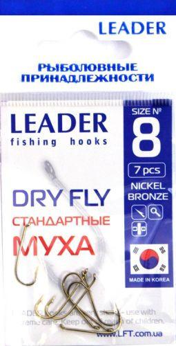 Крючок Leader Dry Fly стандартный Nickel Bronze 16