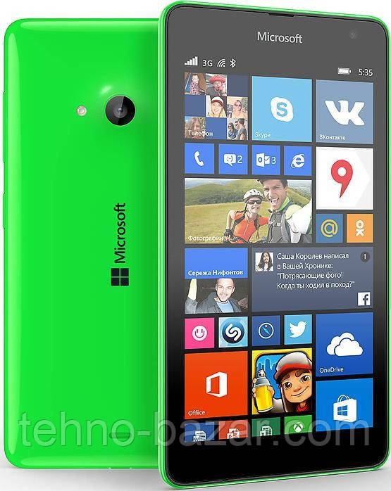 Смартфон Microsoft Lumia 535 Dual Sim   1/8 gb Qualcomm Snapdragon 200 1905 мАч Green