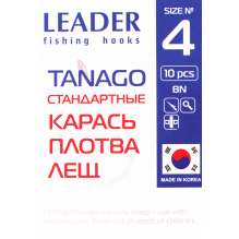 Крючок Leader Tanago BN 12, фото 2