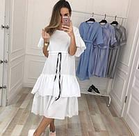Красивое летнее платье Ткань коттон Размеры с,м,л Цвет- Черный, белый