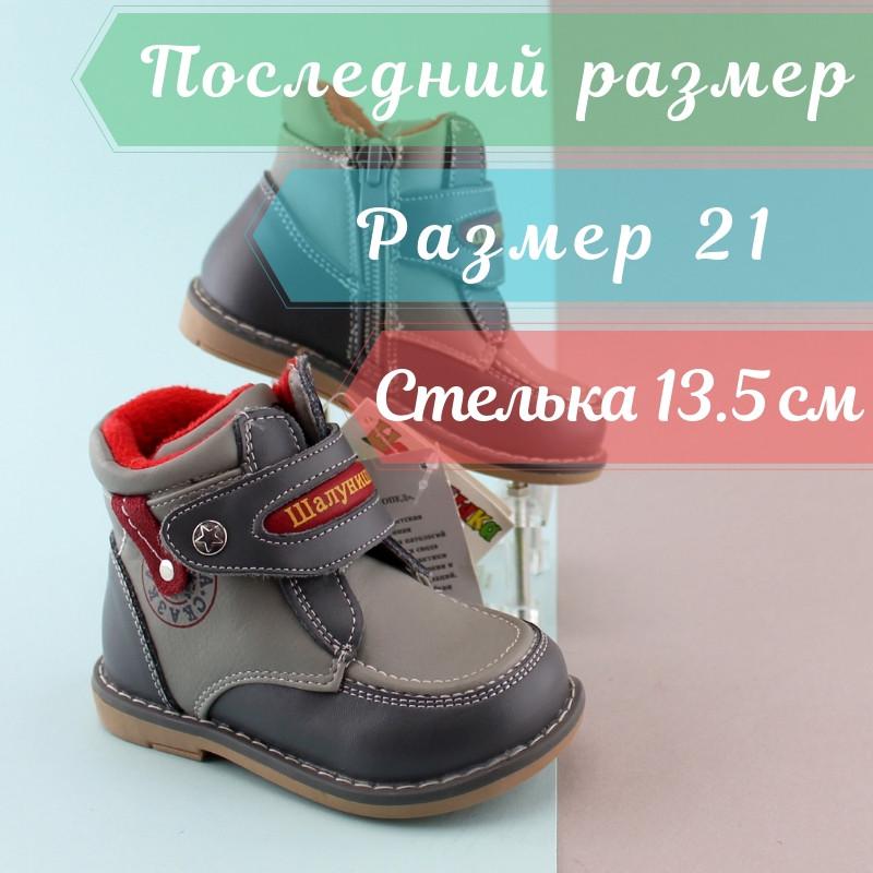 8ed4d51ca Детские ботинки на мальчика, демисезонная ортопедическая обувь тм Шалунишка  р.21