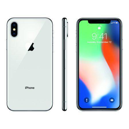 Смартфон Apple iPhone X 64gb Silver Apple A11 Bionic 2715 мАч+стекло и чехол Гарантия 6 мес