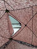 "Палатка зимняя  ""КУБ"" Буран для рыбалки утепленная OXFORD 3000 3-х слойная 200х200х205 см, фото 4"