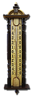 """Термометр большой (83 см) уличный """"Усадьба"""" из дерева"""