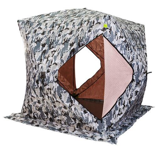 """Палатка зимняя  """"КУБ"""" Буран для рыбалки утепленная OXFORD 3000 3-х слойная 200х200х205 см"""