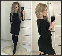 Теплое женское платье 386 АБ