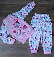 Розовая пижама для девочки с красочным рисунком 92-130 р 1a749194098d7