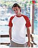 Мужская футболка двухцветная приталенная  100% хлопок, фото 4