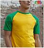 Мужская футболка двухцветная приталенная  100% хлопок, фото 7