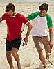 Мужская футболка двухцветная приталенная  100% хлопок, фото 8