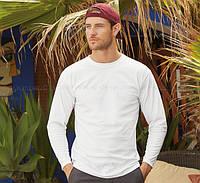 Мужская футболка с длинным рукавом 100% хлопок
