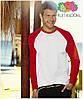 Мужская футболка двухцветная с длинным рукавом  100% хлопок, фото 4
