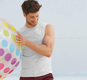 Мужская футболка без рукав 100% хлопок