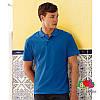 Мужская поло рубашка 100% хлопок с серыми пуговками, фото 5