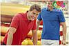Мужская поло рубашка 100% хлопок с серыми пуговками, фото 7