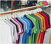 Мужская поло рубашка 100% хлопок с серыми пуговками, фото 8