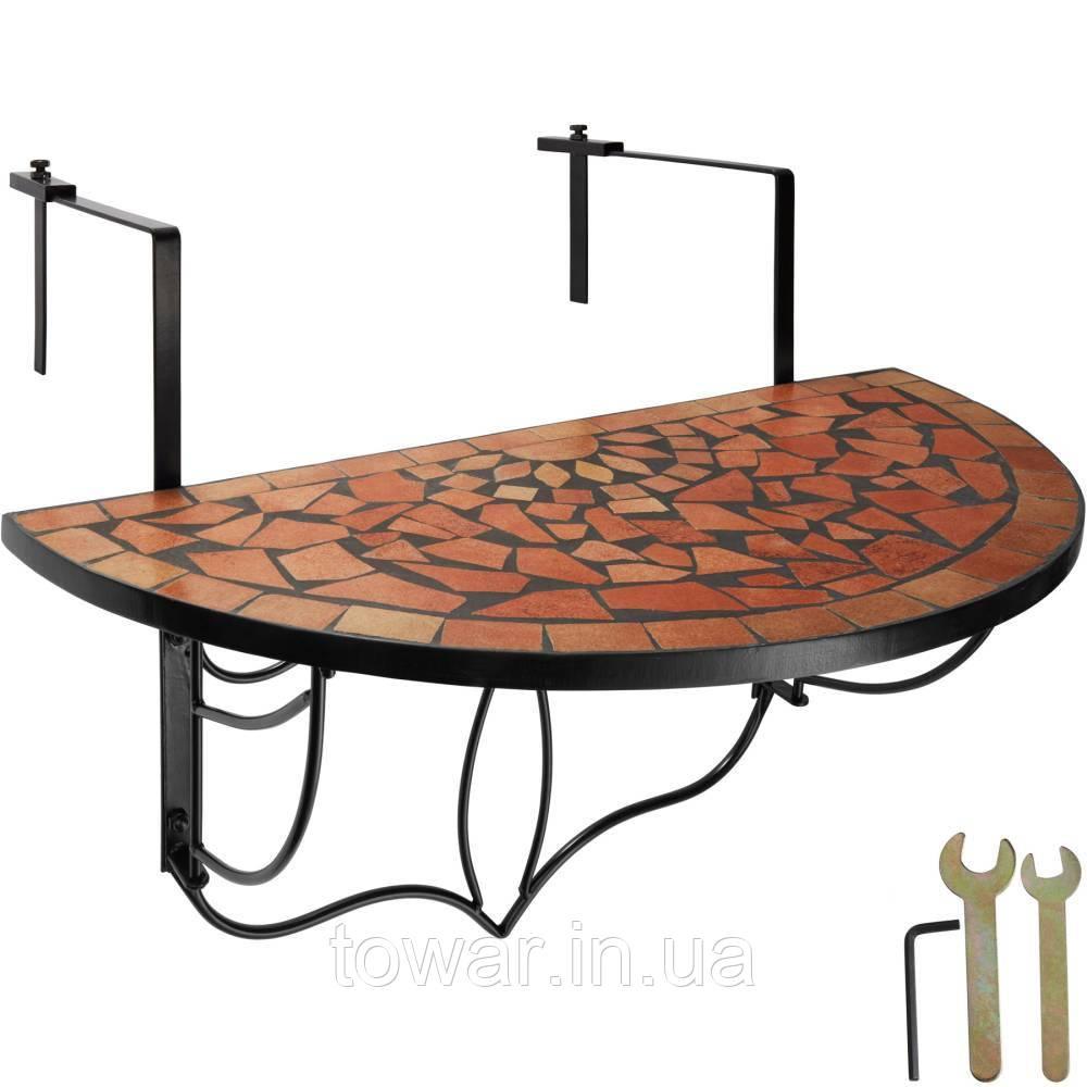 Балконний стіл, мозаїка, складена теракота