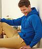 Мужская тёплая кофта з капюшоном толстовка кенгуру, фото 4