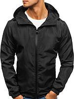 Мужская весенняя ветровка, черная куртка