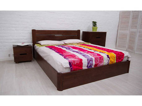 Кровать деревянная Айрис с подъёмным механизмом ТМ ОЛИМП, фото 2