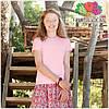 Детская футболка для девочек мягка 100% хлопок, фото 8