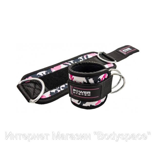 Power System, Манжет для тяги на лодыжку Ankle Strap Camo PS-3470 Pink/Black