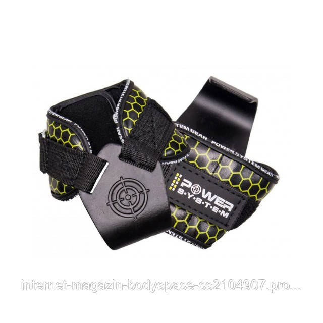 Power System, Крюки для тяги на запястья Hooks V2 PS-3360 Black-Yellow