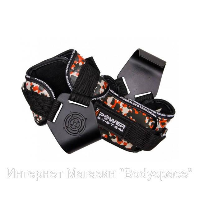 Power System, Крюки для тяги на запястья Hooks CAMO PS-3370 Black-Red