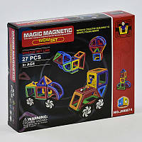Конструктор магнитный Magic Magnetic JH 6874 Транспорт, 27 деталей, фото 1