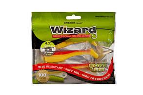 Силикон Wizard Energy Shad 9см Yellow/Clear 4 шт, фото 2