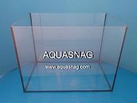 Аквариум 40л прямой, шлифованное стекло 4мм (в40/дл40ш25)см, под пластиковую крышку.