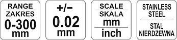 Штангенциркуль механічний 300мм YATO YT-72004, фото 3