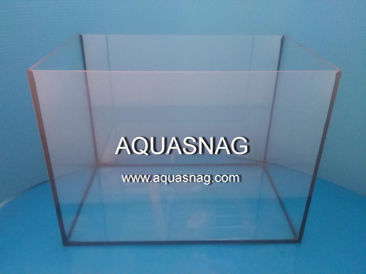 Аквариум 53л прямой, шлифованное стекло 4мм (в35/дл50ш30)см, под пластиковую крышку.