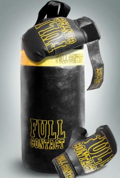 Детский боксерский набор Большая груша и перчатки.