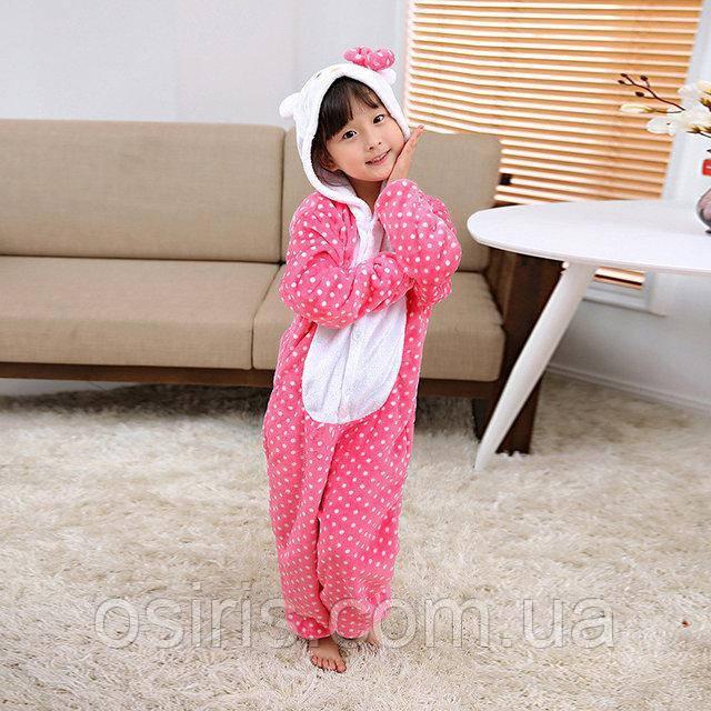 Пижама Кигуруми Хело Китти детский / Hello Kitty микрофибра / детские кигуруми Размер 100 110 120 130 140
