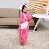 Пижама Кигуруми Хело Китти детский / Hello Kitty микрофибра / детские кигуруми Размер 100 110 120 130 140, фото 1
