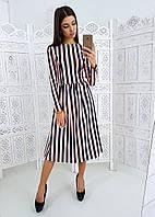 7f56a30f1e7 Черное приталенное платье в горошек с длинным рукавом