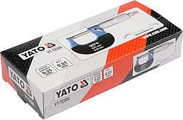 Микрометр 0-25мм YATO YT-72300, фото 2