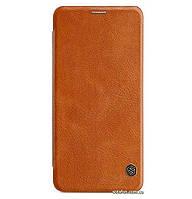 Кожаный чехол-книжка Nillkin Qin Series для Samsung Galaxy A9 (2018) SM-A920F Brown