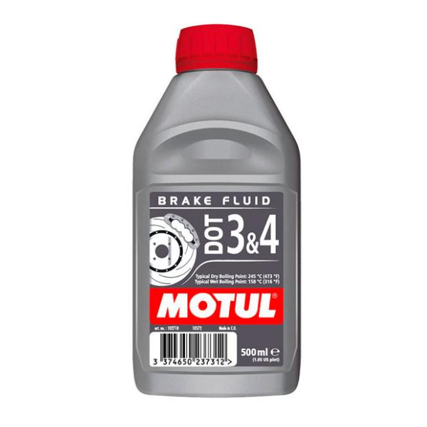 Тормозная жидкость MOTUL DOT 3 & 4 Brake Fluid 0,5л