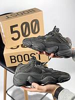 Женские кроссовки Adidas Yeezy 500 Black