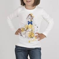 Модная Красивая Детская Футболка С Длинным Рукавом Футболка Для Девочки Белая Со  Стразами  BRUMS,Италия